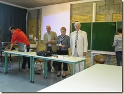 Mit Herrn Böhm und Herrn Schwietz