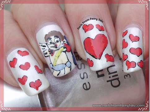 cupid nail art