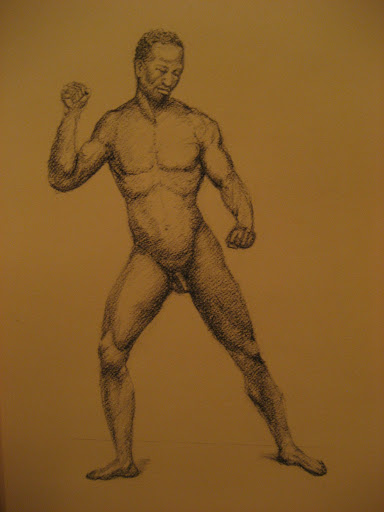 Nude male figure drawing