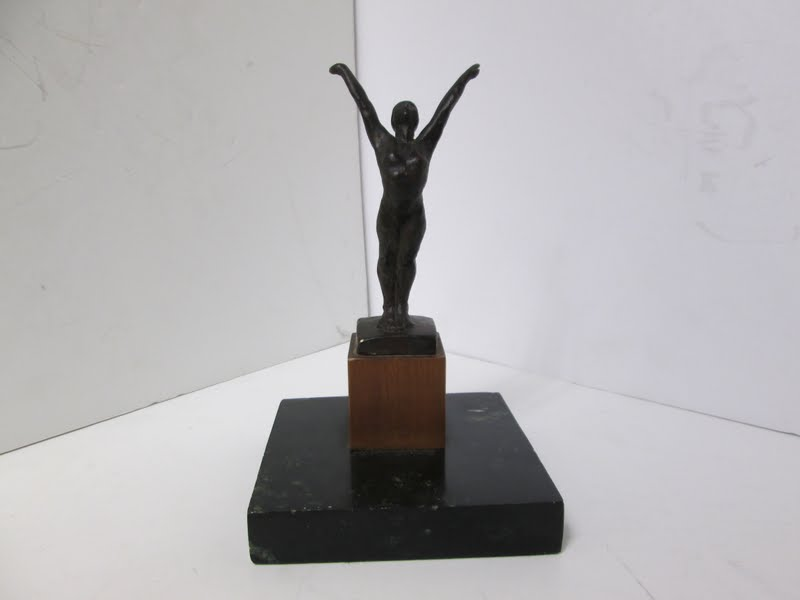 Marc Mellon Bronze Gymnast Figure
