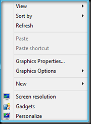 preview pop-up menu