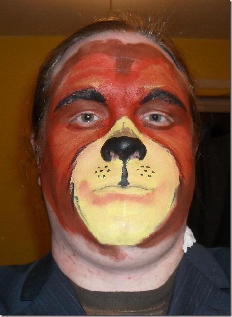 maquillaje de oso