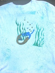 mermaid fabric painted tshirt front2