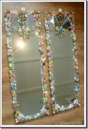 Jewelled Mirrors Upcycled 7
