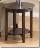 Bogdon and Gross oval end table