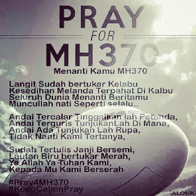 Worrdless wednesday #10 pray for MH370