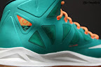 nike lebron 10 gr miami dolphins 4 05 Gallery: Nike LeBron X Miami Setting or Dolphins if you Like