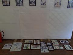 Pregatiri pentru salonul de grafica din Herastrau