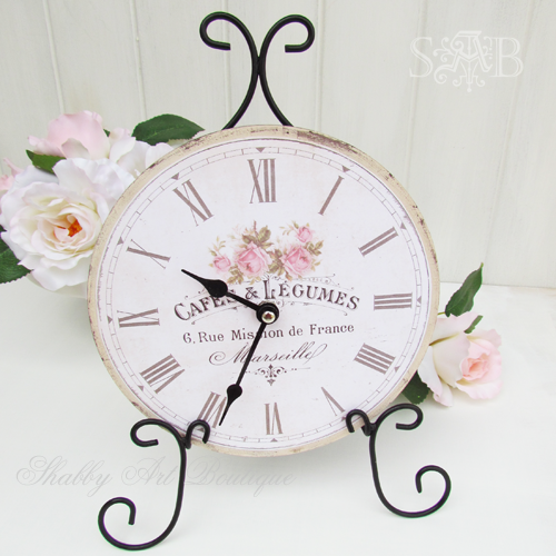 Shabby Art Boutique French clock 1