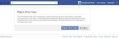 Cara hapus akun facebook