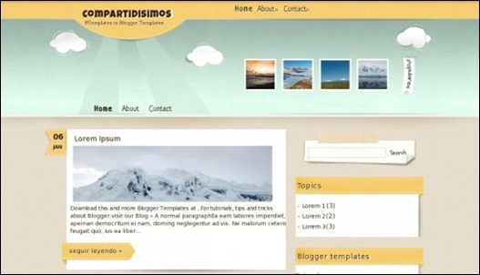 compartidisimo blogger template