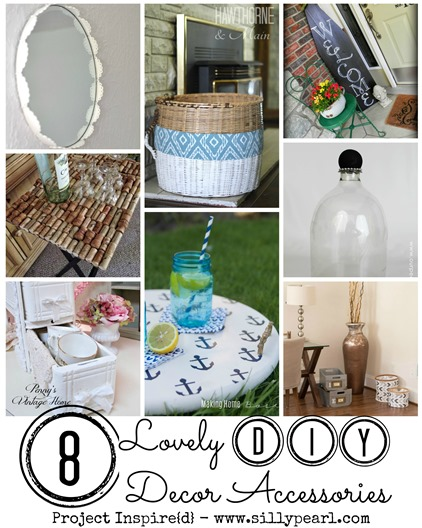 8 Lovely DIY Decor Accessories Featured on Project Inspire{d} - The Silly Pearl
