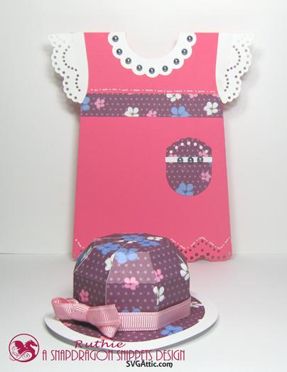Leprechaun mini bowler hat box - First communion girls dress card - Ruthie Lopez. 2