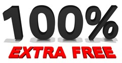 100% extra free