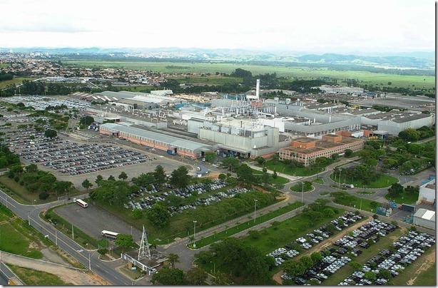 Vista aérea do Complexo Industrial de São José dos Campos