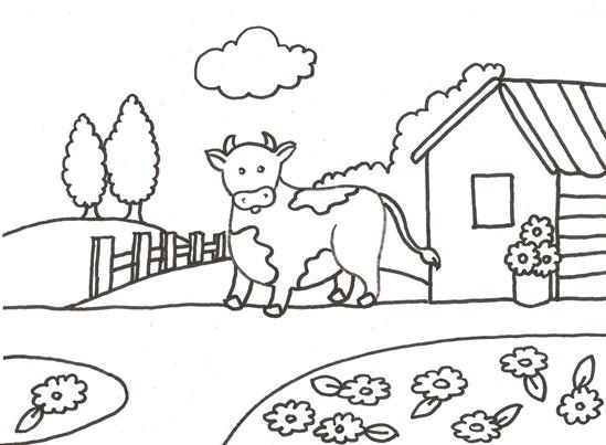 desenhos-vaquinha-na-fazenda-colorir-pintar-pintura-tecido