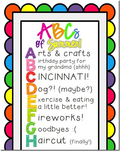 ABC of Summer Bucket List Editable3