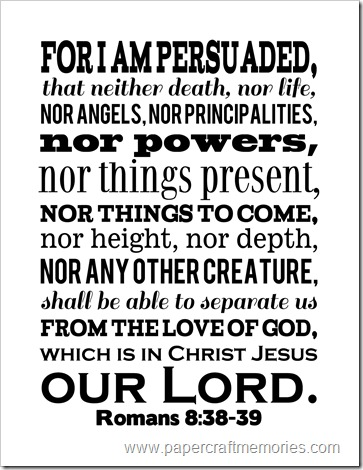 Romans 8:38,39
