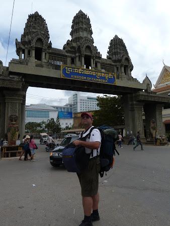 Poipet, granita Cambogia - Thailanda