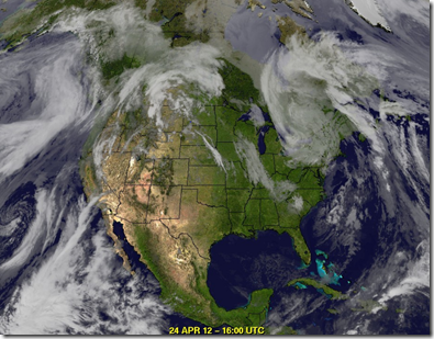 Cloud Cover North America