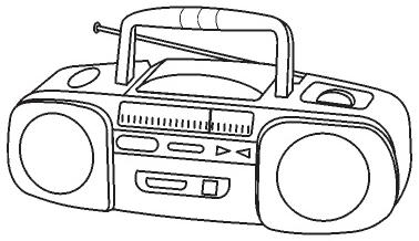 Coloring pages » RADIO COLORING