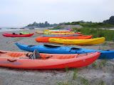 Kayaks at Hazard's Beach