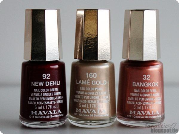 """mavala """"new dehli"""" + """"lamé gold"""" + """"bangkok"""""""