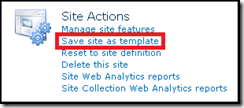 Site Actions