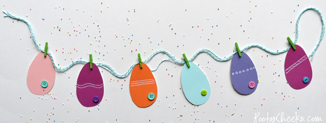 A quick and easy paper Easter egg banner