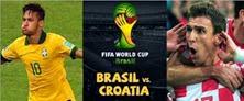 Hasil Brasil vs Kroasia