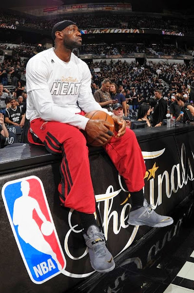 lebron james nba 140605 mia at sas 04 game 1 LeBron Cramps Up As San Antonio Wins the NBA Finals Opener