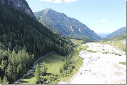 Ausblick von der Brcke vor dem Tauerntunnel