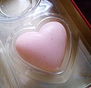 tbs heart cranberry soap, bitsandtreats