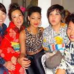 Krystal and the crew in Aoyama, Tokyo, Japan