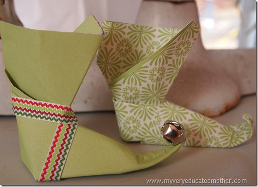 @mvemother Origami Elf Boot Ornament #NUO 2012