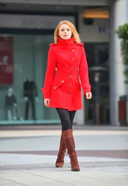 long red coat