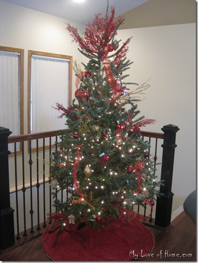 Fraiser Fir Red Christmas tree