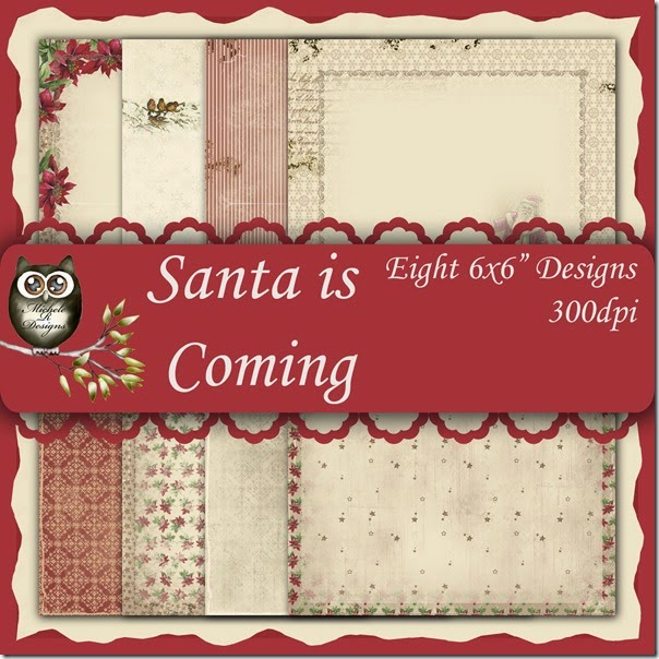 Santa is Coming Front Sheet