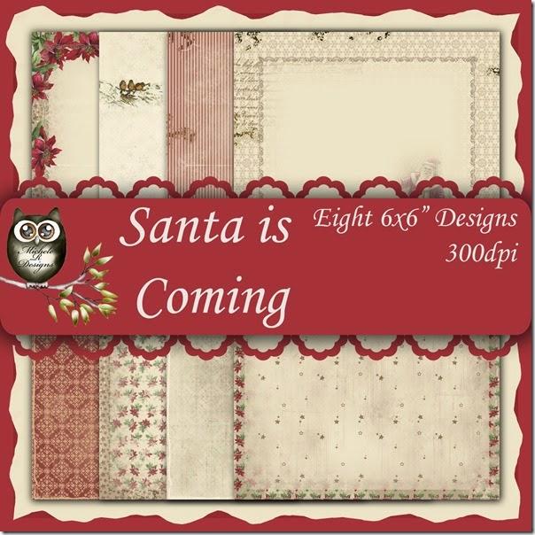 Santa is Coming Front Sheet