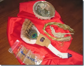 smudge fan sage sweetgrass