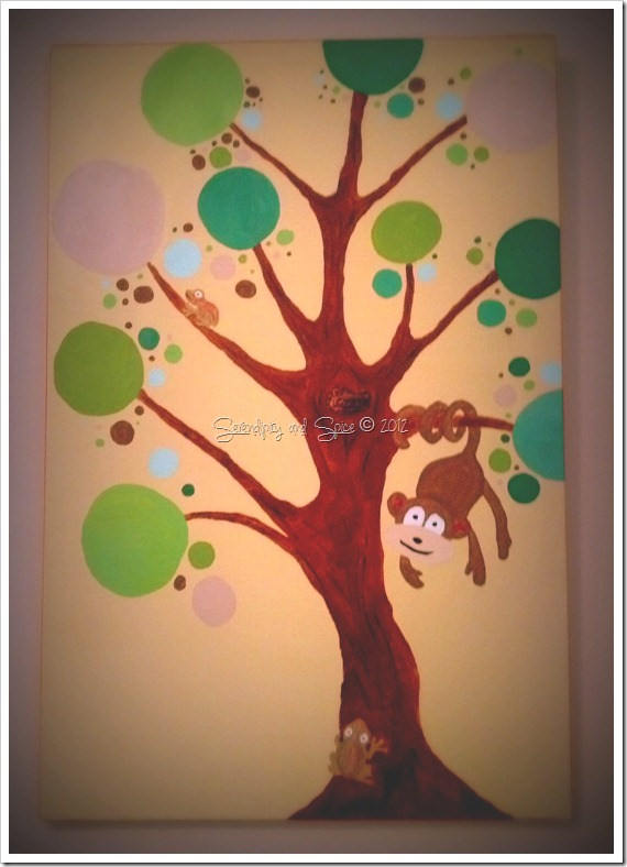 Monkey in Tree Canvas