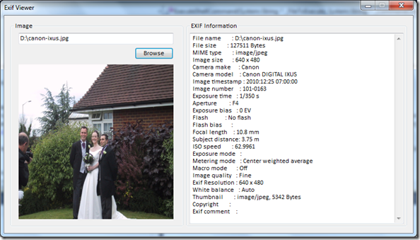 how to use exif viewer