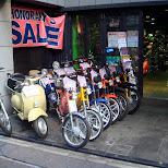 scooter shop in Harajuku in Harajuku, Tokyo, Japan