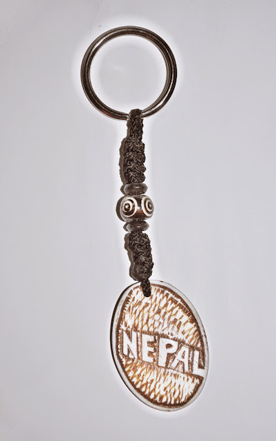 Nepal Design Bone Keyring