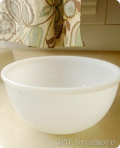 white fire king bowl