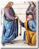 Jesus entrega chaves a Pedro