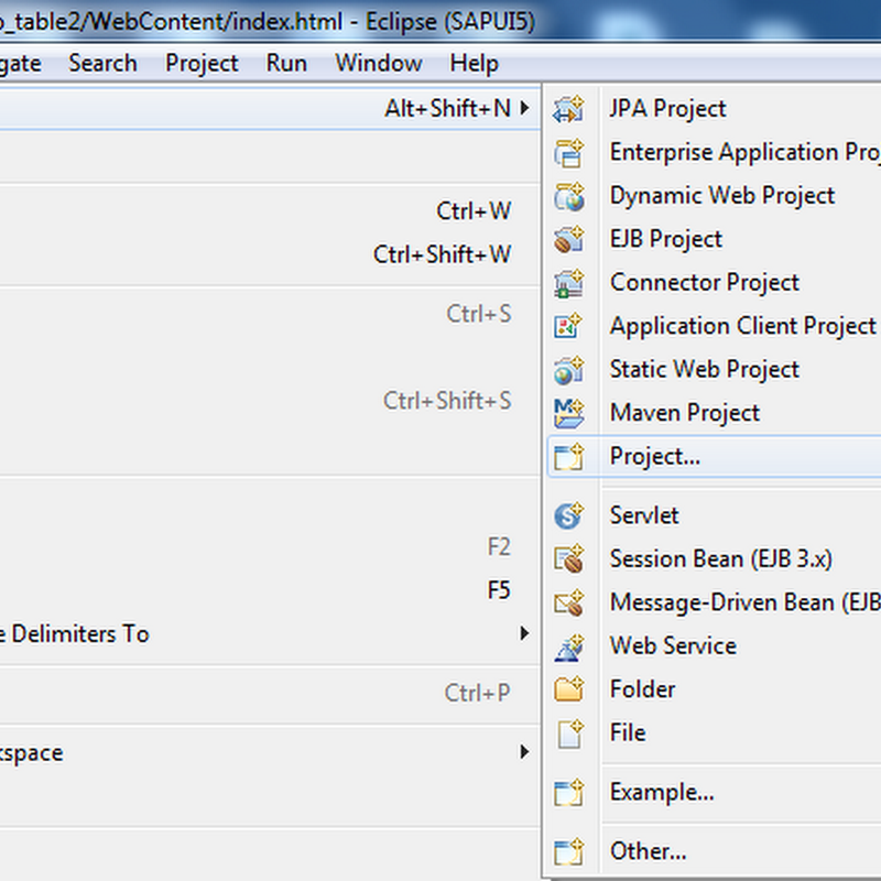 Creating a Table in UI5