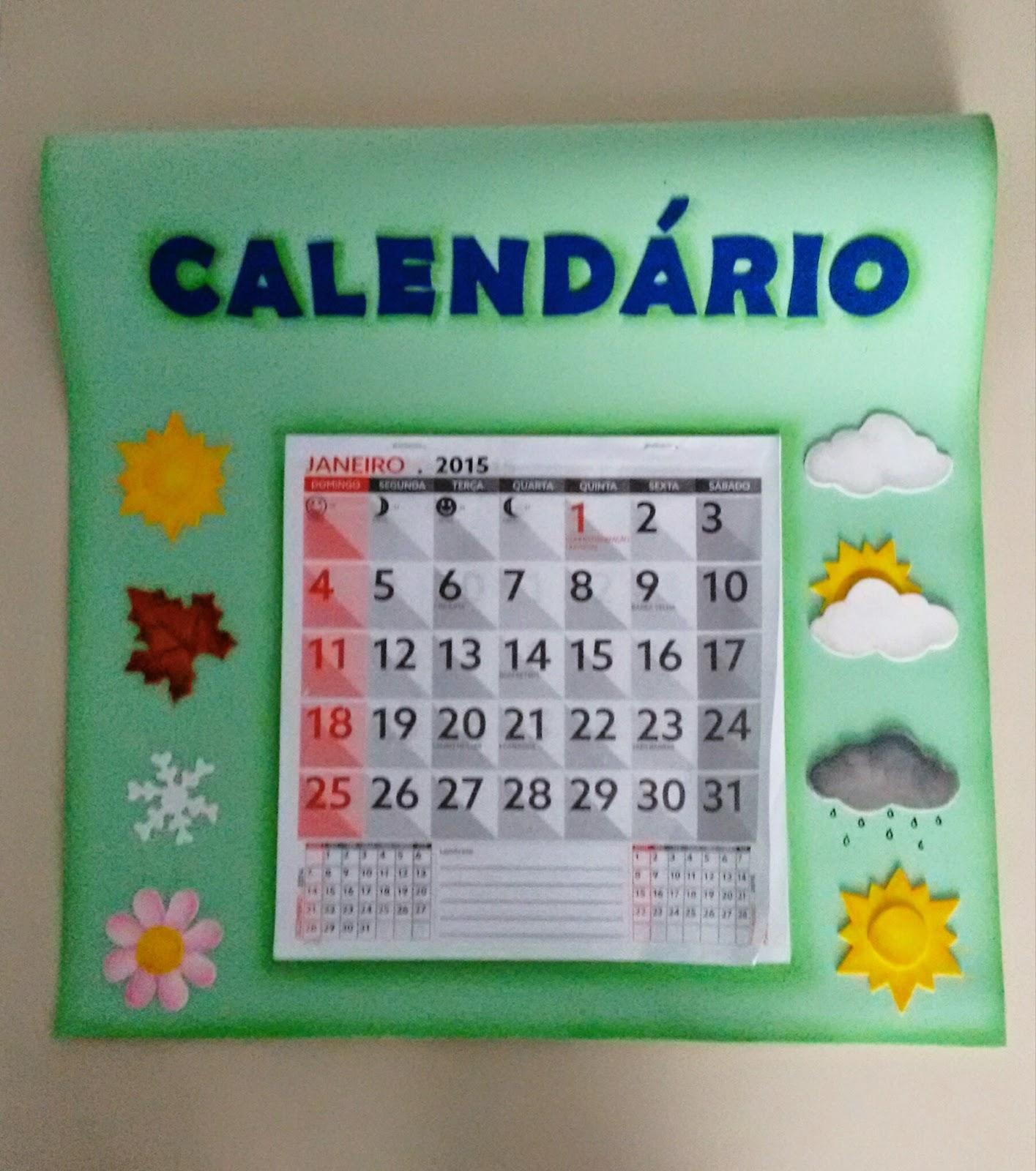 Top Dai e Dai artesanatos: Calendário para sala de Educação Infantil IM38