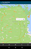 Screenshot of Cell Phone Coverage Map