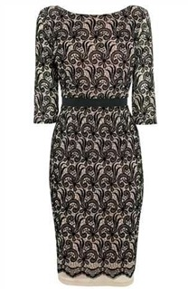 flocked lace dress NX2
